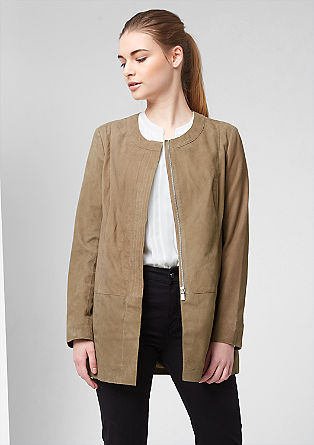 Suede coat from s.Oliver