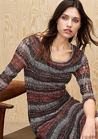 Lace dress with a draped effect from s.Oliver
