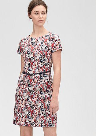Muster-Kleid aus Baumwollsatin