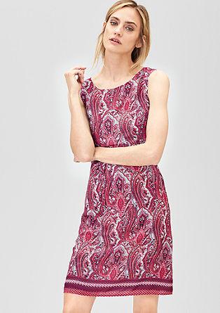 Zartes Kleid mit Ornament-Muster