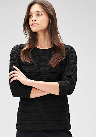 Stretch top with a braided detail from s.Oliver