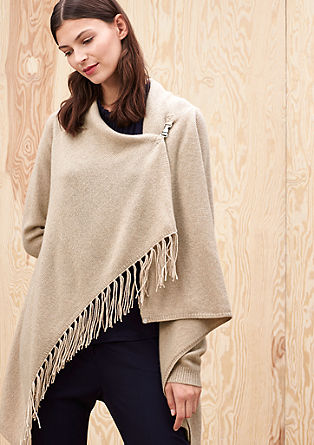 Fringed cashmere cardigan from s.Oliver