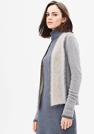 Graduated colour cardigan with mohair from s.Oliver