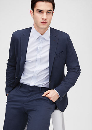 Slim: tailored jacket with cotton from s.Oliver