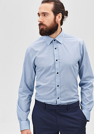 Slim: Hemd mit Minimal-Muster
