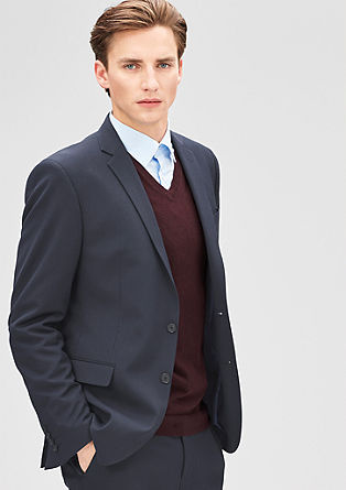 Slim: jacket with tone-in-tone stripes from s.Oliver