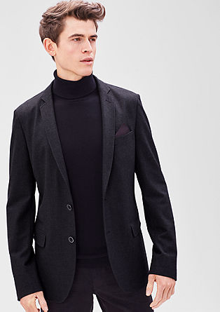 Modern Fit: Tailored jacket with a distinctive texture from s.Oliver