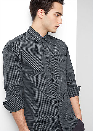 Regular: Shirt with gingham checks from s.Oliver