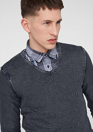 Pullover im Strukturmix