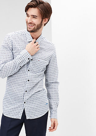 Slim: lightweight cotton shirt from s.Oliver