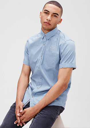 Regular: Kurzarmhemd mit Struktur