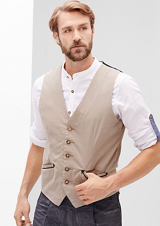 Twill waistcoat in a traditional look from s.Oliver