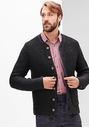 Cardigan in the style of a traditional Bavarian jacket from s.Oliver