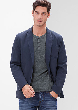 casual jacket with a woven texture from s.Oliver