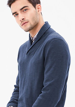 Lightweight knit jumper with a collar from s.Oliver