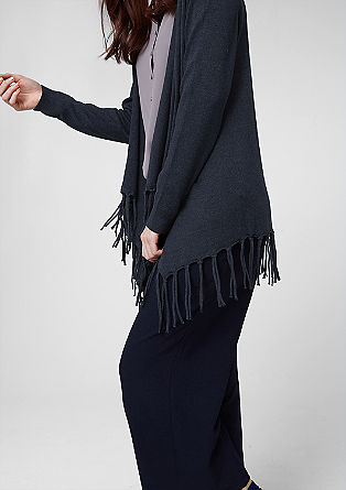 Cardigan with fringing from s.Oliver