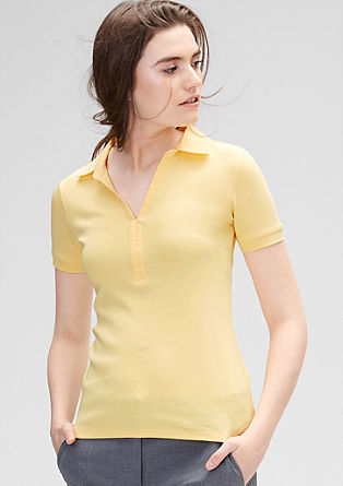 Finely ribbed polo shirt from s.Oliver