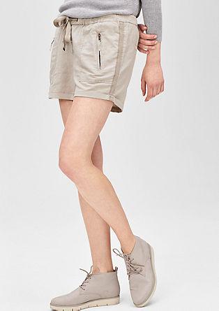 Smart Short: Hose aus Leinen-Mix