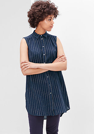 Longline blouse top with fine stripes from s.Oliver