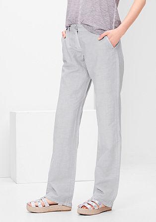 Smart Straight: Hose aus Leinen-Mix