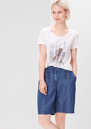 Short culottes in a denim look from s.Oliver