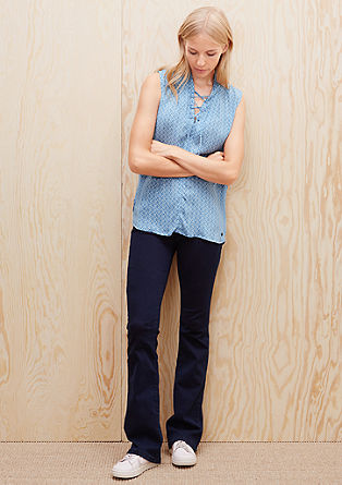 Casual sleeveless blouse with decorative lacing from s.Oliver