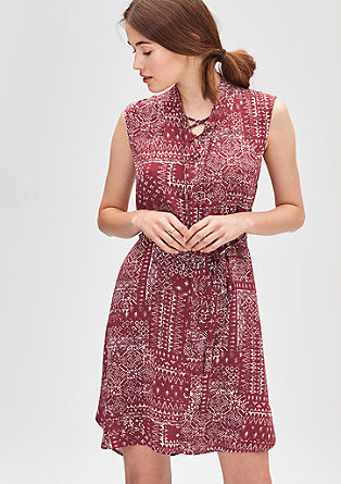 Ethnic dress with lacing from s.Oliver