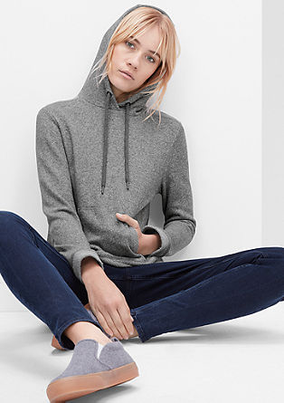 Hoodie with a melange effect from s.Oliver