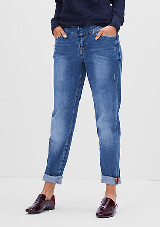 Mom Fit:nonchalante jeans met hoge tailleband