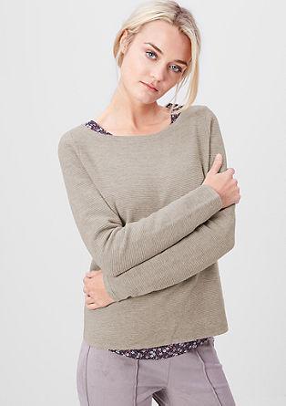 Short rib knit jumper from s.Oliver