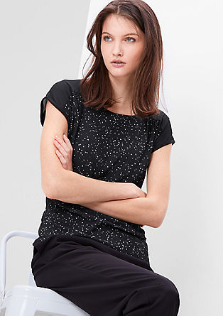 Blouse top with stars from s.Oliver