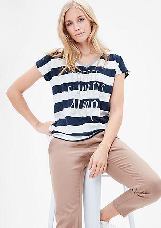 Streepshirt met V-hals