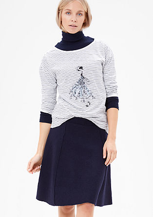 Striped top with a sequin motif from s.Oliver