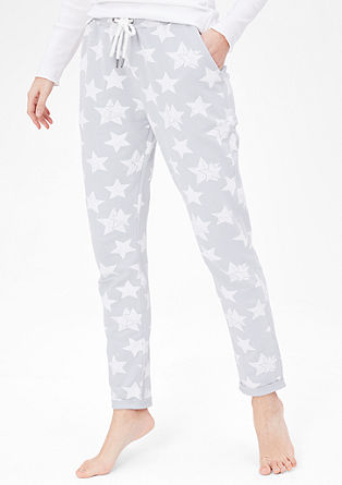 Loungewear trousers with stars from s.Oliver