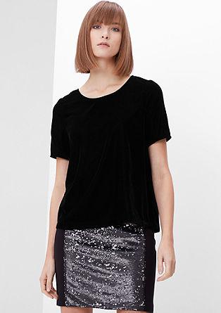 T-shirt façon blouse en velours de s.Oliver