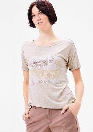 Viskozna majica z bleščicami