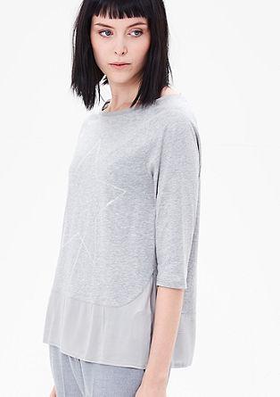 Blusen-Shirt mit Sternchen