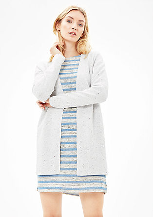 Long, textured cardigan from s.Oliver