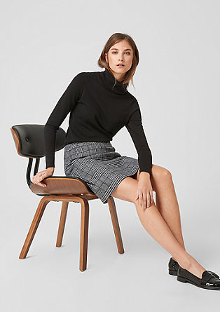 Wool skirt with a Prince of Wales pattern from s.Oliver