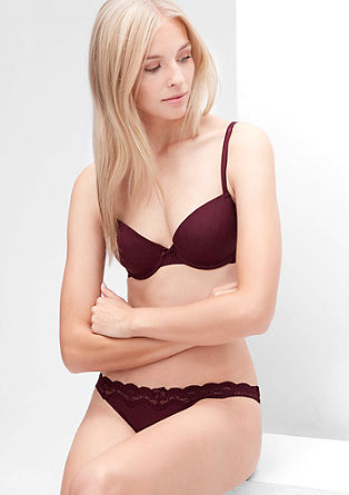 Jacquard cup bra with lace from s.Oliver