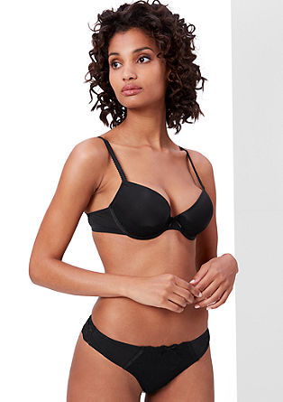 Cup bra with lace trimming from s.Oliver