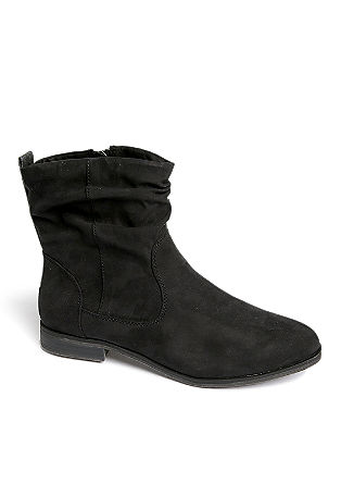 Boots in Veloursleder-Optik