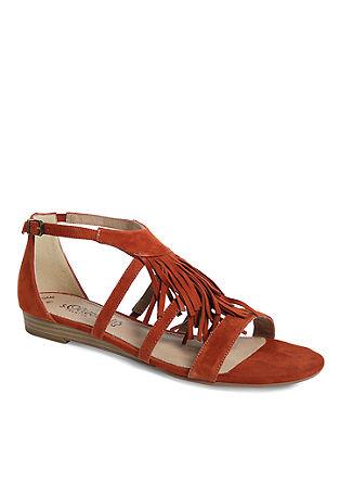 Usnjeni sandali z resicami