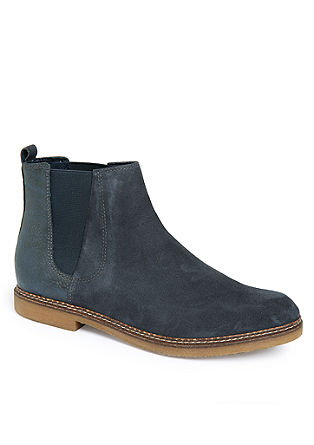 Chelsea-Boots im Materialmix