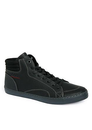 High Sneaker in Leder-Optik