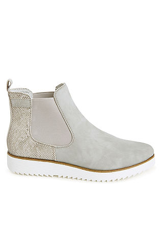 Chelsea-Boots mit Snake-Detail