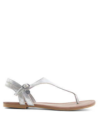 Sandalen in metallic look