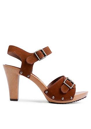 Sandalete iz velurnega usnja