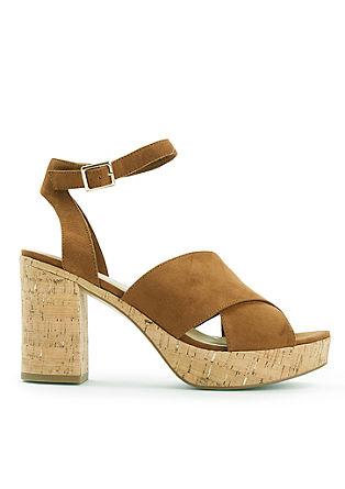 Sandaletten mit Sohle in Kork-Optik