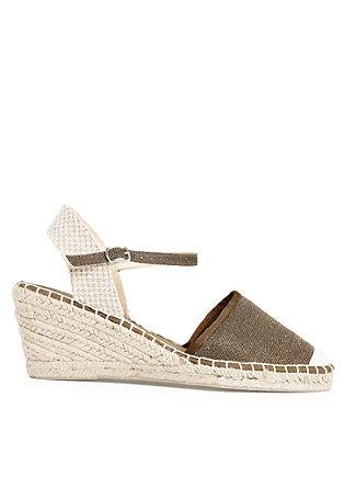 Sandali s polno peto iz tekstila